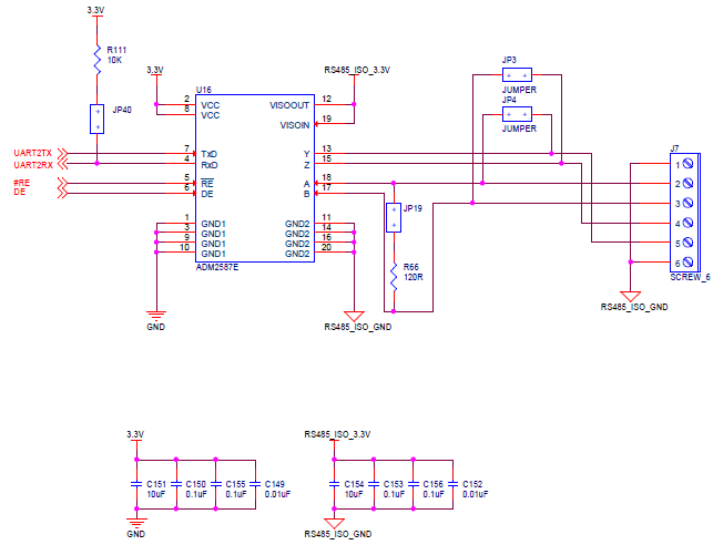 ezlinx isolated rs 485 rs 422 implementation analog devices wiki rh wiki analog com rs485 wiring diagram RS-422 Wiring