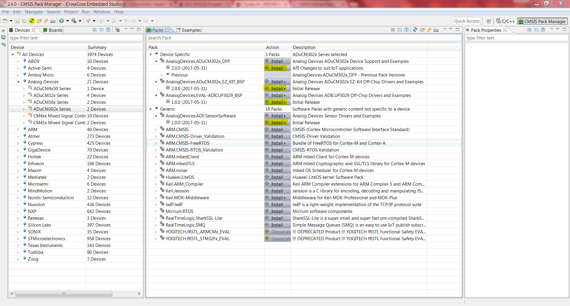 CrossCore Embedded Studio Quickstart User Guide [Analog