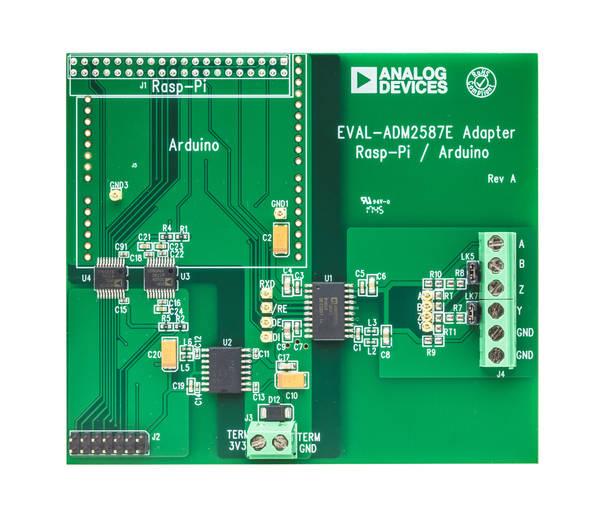 EVAL-ADM2587EARDZ Arduino Shield & EVAL-ADM2587ERPIZ Raspberry Pi