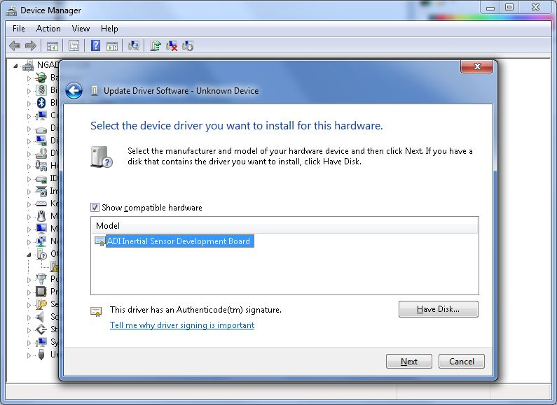 How to Install Drivers (Without an Installer) [Analog Devices Wiki]