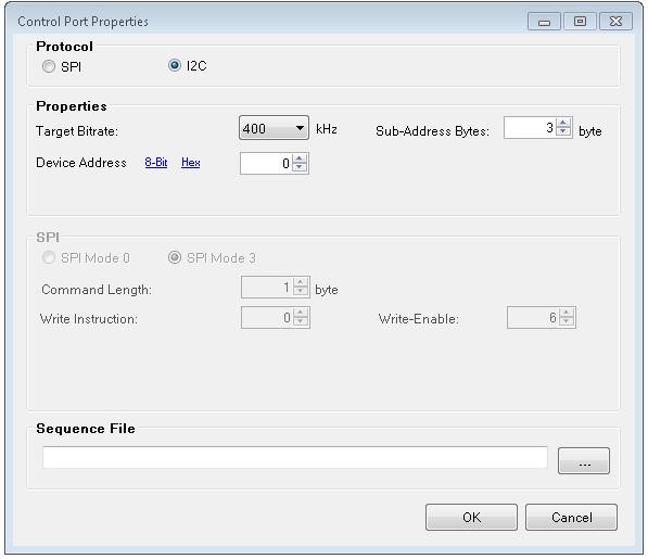 Master Control Port Boot time I/O (ADAU145x) [Analog Devices