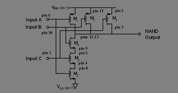 74LS10N Triple 3-Input NAND Gate, 5pcs Signetics SN74LS10 IC