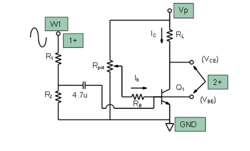 Activity 5 common emitter amplifier analog devices wiki figure 1 common emitter amplifier test configuration ccuart Choice Image