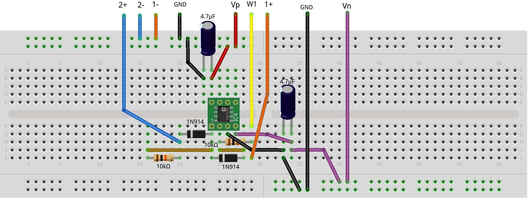 Activity 2 Diode I Vs V Curves Analog Devices Wiki Led Bias Circuit Dc Ac Leds Analyze And Design With Hardware Setup