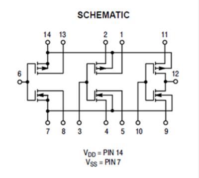 figure 1: cd4007 functional diagram