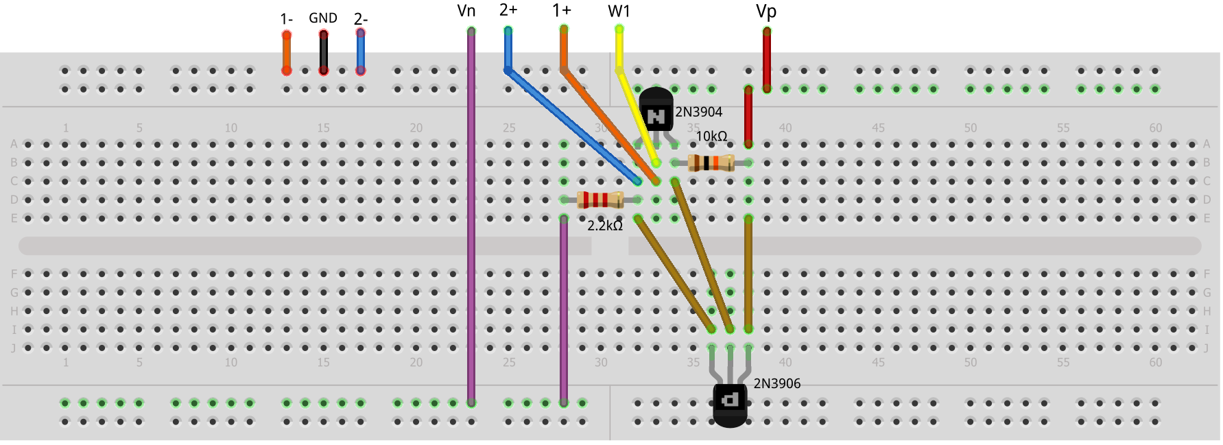 Activity 11 The Emitter Follower Bjt Analog Devices Wiki Circuit Idea Series Voltage Summer Wikibooks Open Books For An Figure 24 Complementary Feedback Pair Breadboard
