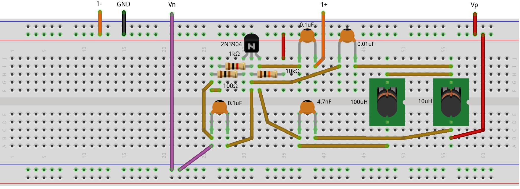 Activity The Hartley Oscillator Analog Devices Wiki Ac Type Of Capacitor 001uf For This Circuit Electrical Figure 3 Breadboard