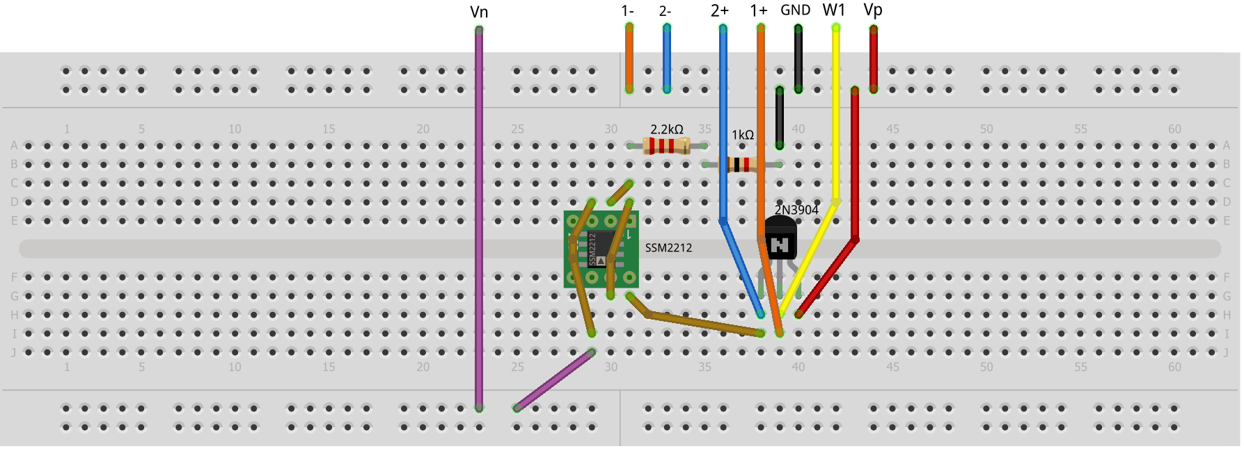 Activity 11 The Emitter Follower Bjt Analog Devices Wiki Common Amplifier Design A Simple Approach To Determining Hardware Setup Figure 5 Improved Breadboard Circuit