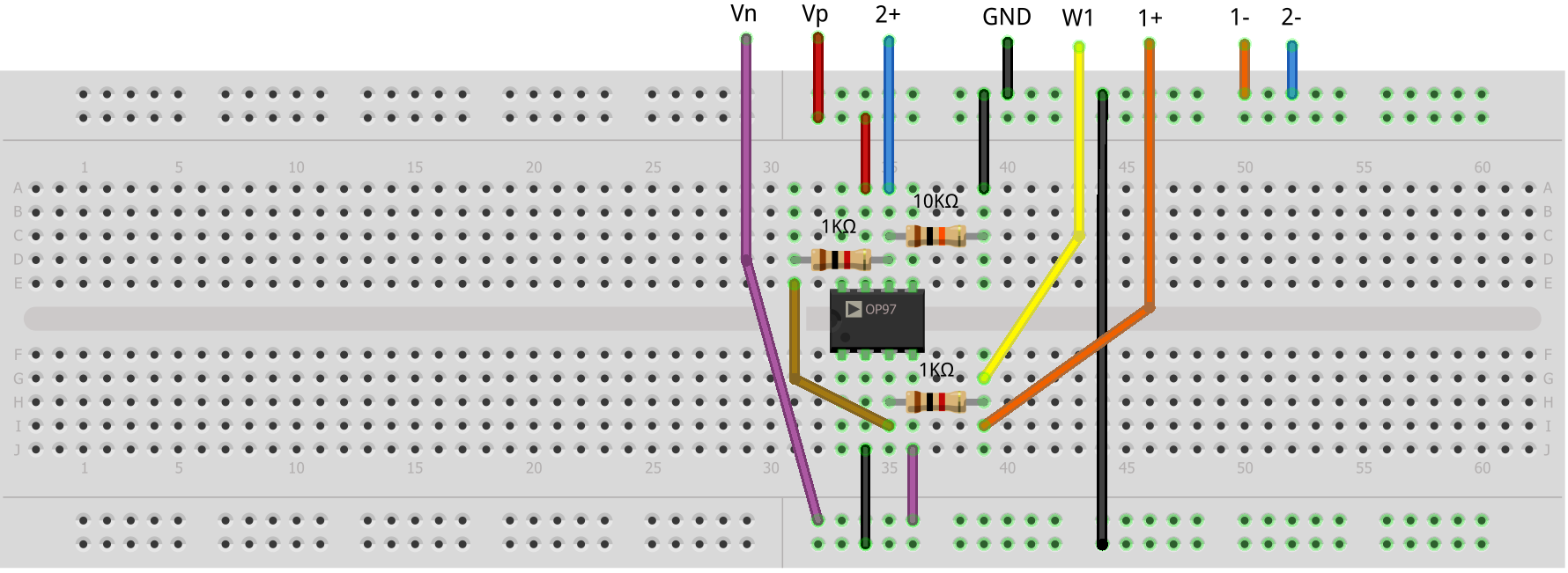 Activity Op Amp As Comparator Analog Devices Wiki Circuit Diagram For Opamp Hardware Setup Build The Following Breadboard Non Inverting Hysteresis