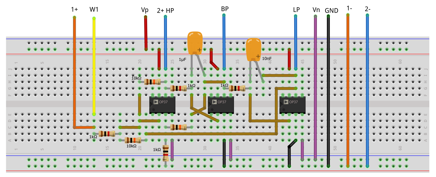 Diagram Of A Op Amp Notch Filter Using A Twin T Configuration And Two