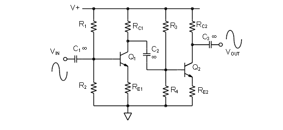 chapter 10 multi stage amplifier configurations [analog devices wiki]10 1 3 ac coupled common emitter stages