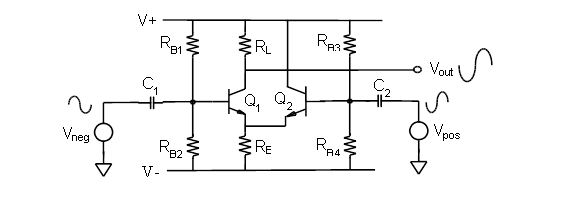 Single Stage Differential Amplifier Circuit Diagram