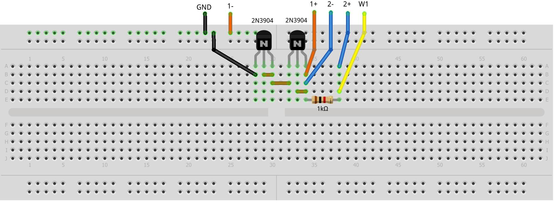Activity 7 Zero Gain Amplifier Bjt Analog Devices Wiki Arduinorealtimeclockcircuit Breadboard Schematic Hardware Setup Figure 8 V Be Circuit