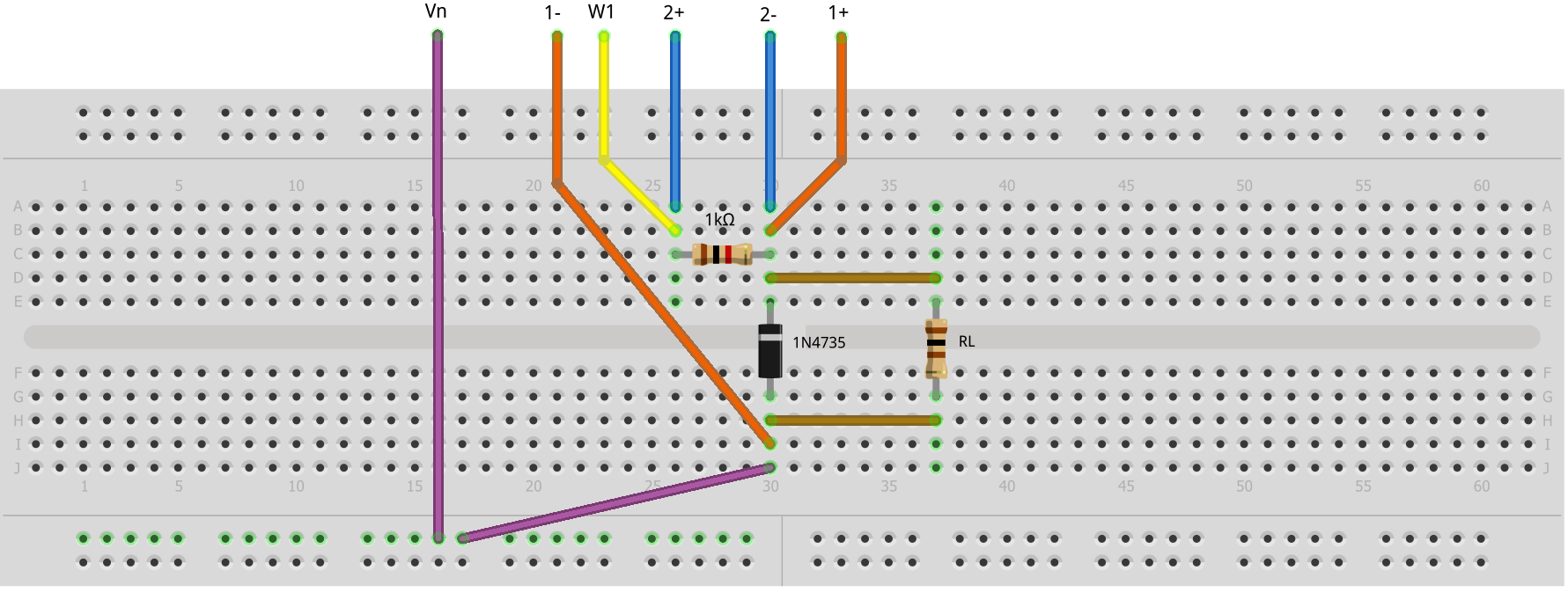 Bridge Rectifier Connections On Breadboard