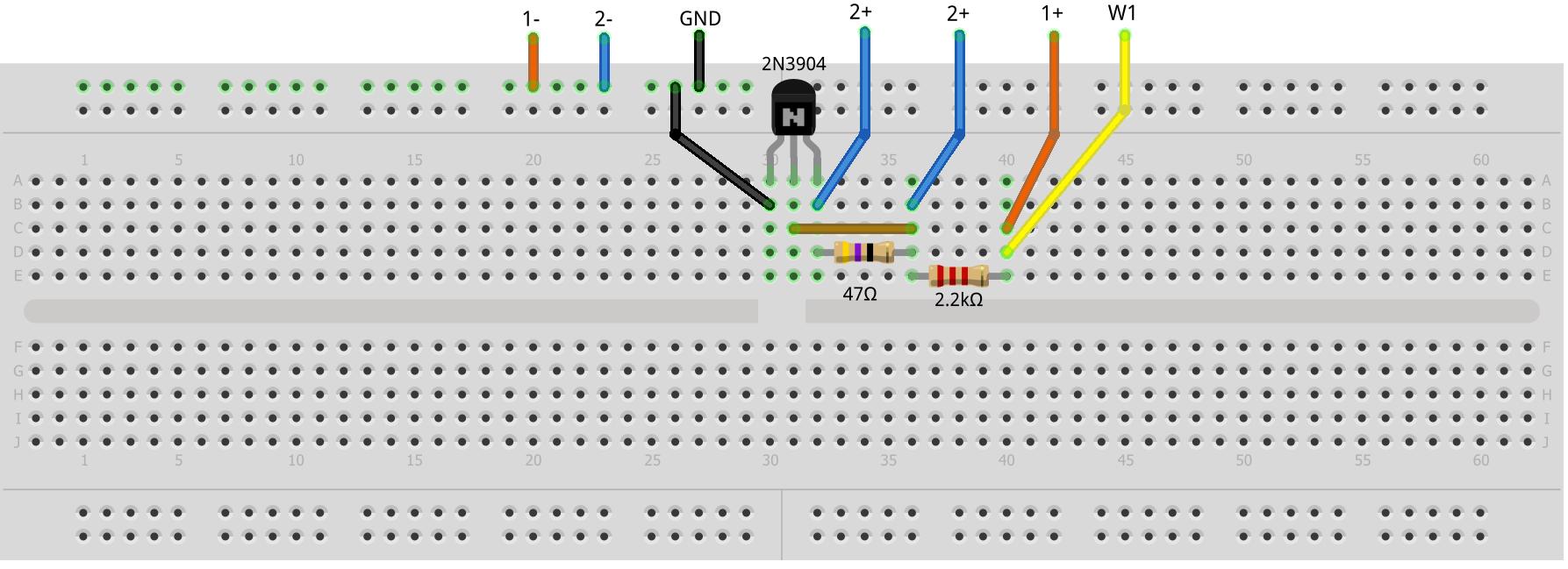 Activity 7 Zero Gain Amplifier Bjt Analog Devices Wiki With Voltagedivider Input Circuit Diagram Tradeoficcom Figure 2 Breadboard