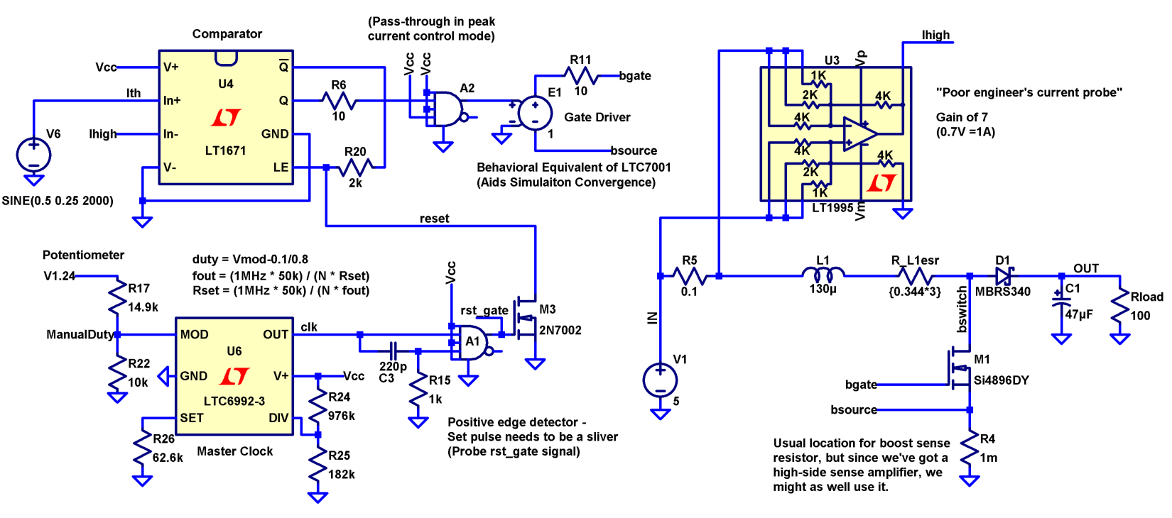 Activity Boost and Buck converter elements and open loop ...